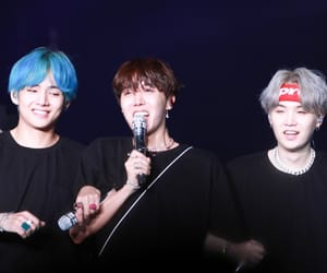 v, yoongi, and suga image