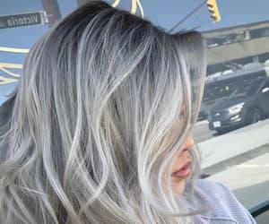 gray hair, grey hair, and silver hair image