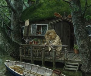 boat, illustration, and river image