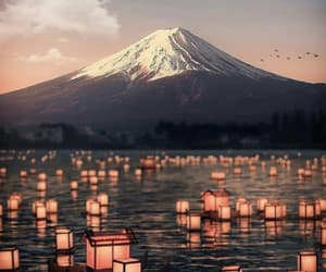 japan, mountain, and travel image