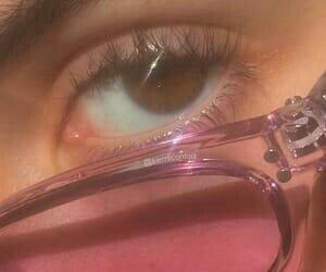 pink, aesthetic, and eye image