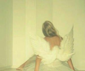 angel, yellow, and aesthetic image