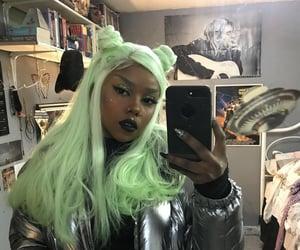 alternative, nails, and green image