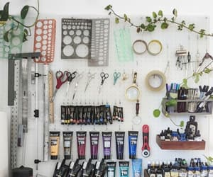 art, art studio, and art supplies image