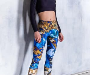 etsy, festival leggings, and psychedelic clothing image