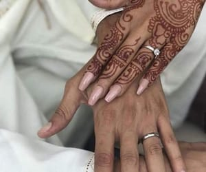 couple, hlel, and henna image
