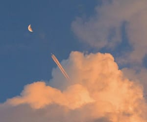 clouds, sky, and moon image