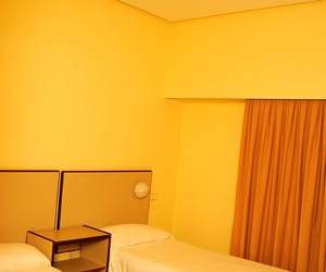 yellow and motel room image