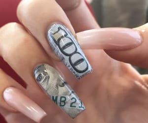 long nails, nails, and money nails image