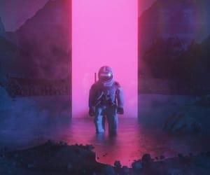 art, astronaut, and beginning image