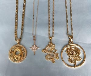 gold, necklace, and accessories image