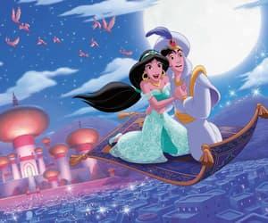 aladdin, jasmine, and disney image