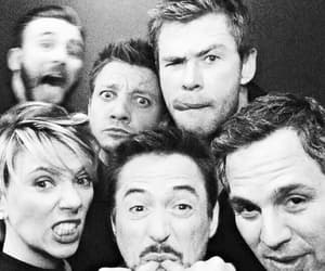 chris evans, robert downey jr, and Scarlett Johansson image