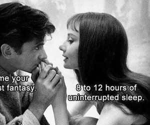 fantasy, sleep, and black and white image