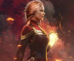 captain marvel, Marvel, and brie larson image