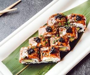 fish, food, and maki image