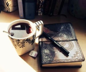 tea, book, and coffee image