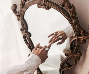 mirror, jewelry, and rings image