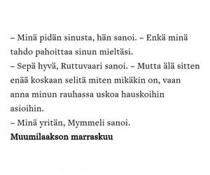 quote, suomi, and muumit image