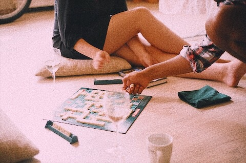 game, fun, and scrabble image
