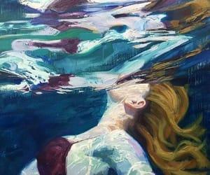 art, drown, and girl image