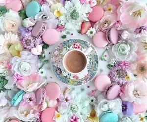 cafe, macarons, and coffee image