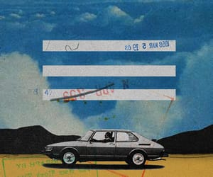 car, Collage, and landscape image