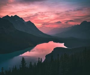 aesthetic, calm, and mountain image