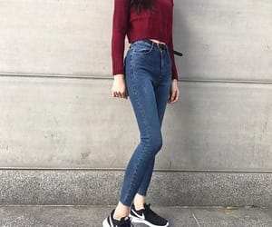 outfit, fashion, and jeans image