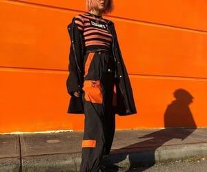 fashion, orange, and aesthetic image