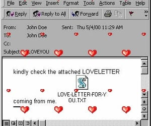 email and love image
