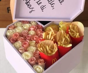 love, food, and roses image