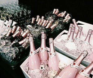 drink, pink, and champagne image