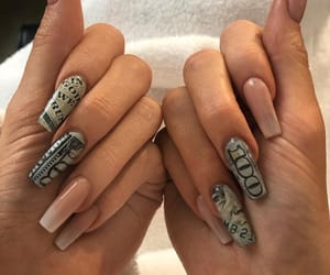 nails, kylie jenner, and acrylic image