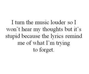 music, quotes, and thoughts image