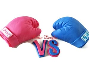 birthday cake, birthdaycake, and boxing gloves image