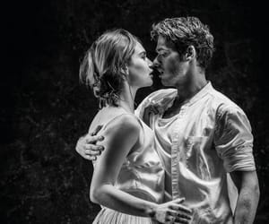 lily james, love, and richard madden image
