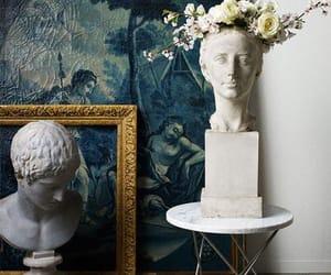 art, flower, and sculpture image