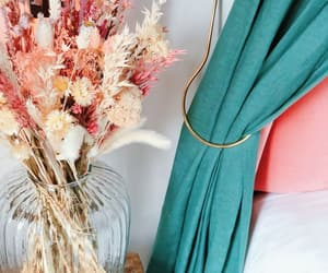 baby pink, herb, and curtain image