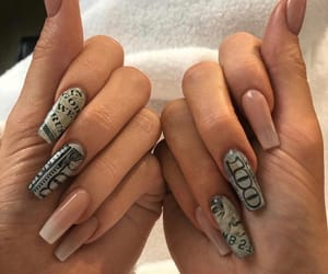 nails, money, and style image