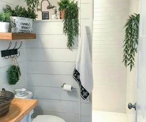 bathroom, black, and decor image