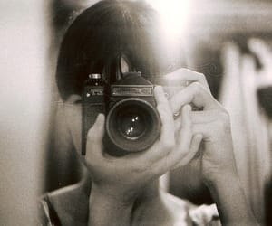 girl, camera, and film image