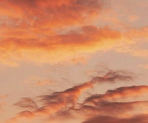 aesthetic, orange, and sky image