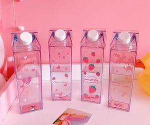 bottle, Harajuku, and pink image