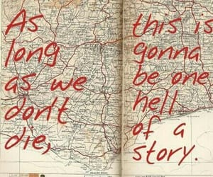 quotes, life, and map image