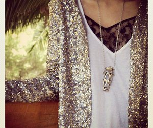glitter, jacket, and top image