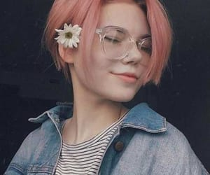 hair, pink, and hairstyles image