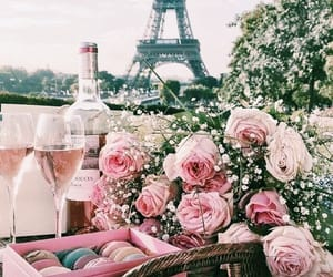 paris, flowers, and pink image