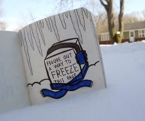 tumblr, wreck this journal, and winter image