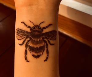 bee, tattoo, and wrist tattoo image